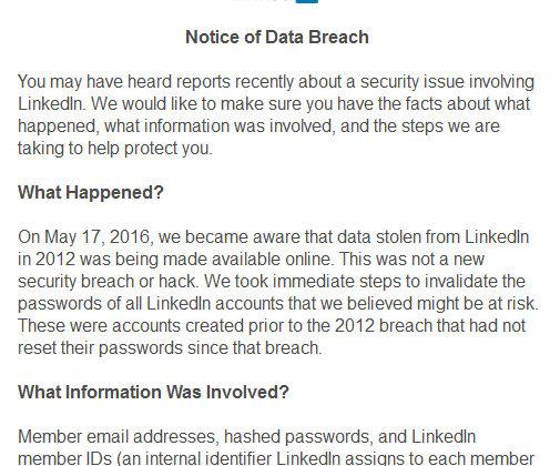 LinkedIn Data Breach May 17