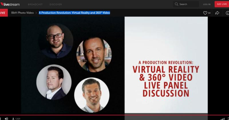 Virtual Reality and 360 Video Panel