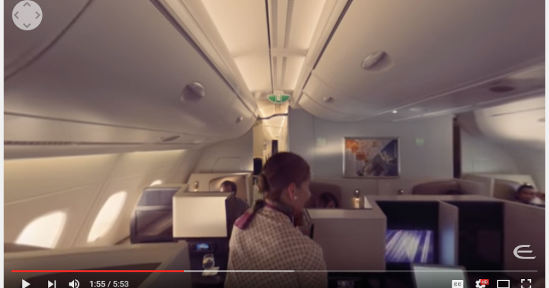 Ethihad Airways Virtual Reality VR 360 Experience