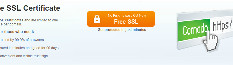 Free SSL From Sectigo Formerly Comodo CA