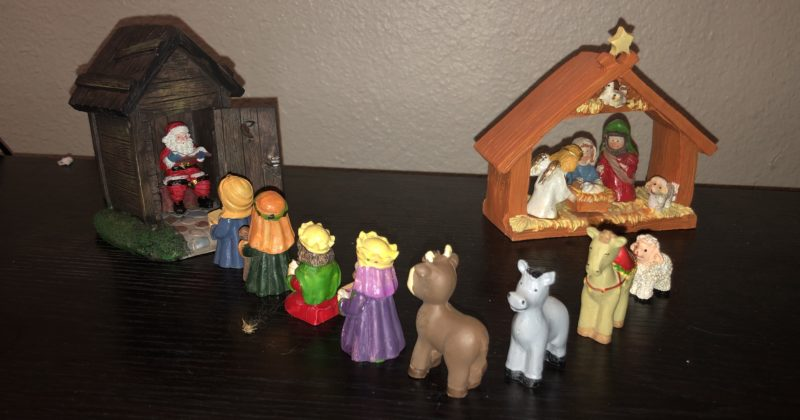 E Rearranged The Nativity Scene