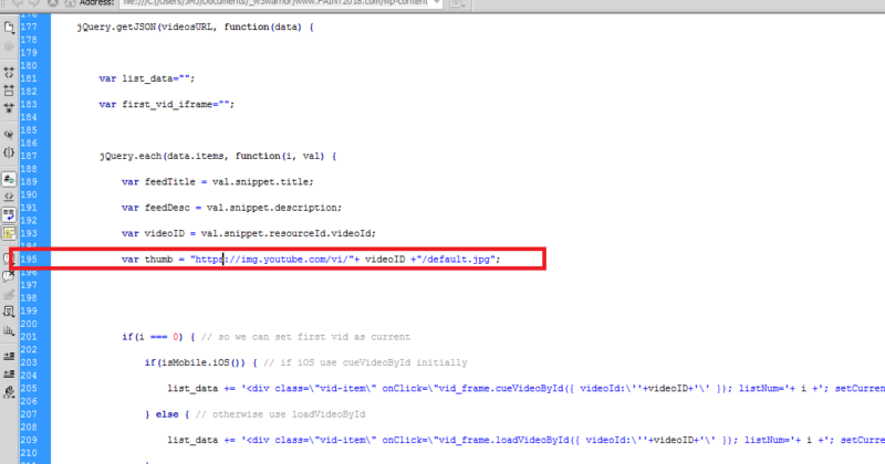 SSL Error Using MyList Video Player for YouTube Playlist on WordPress Site