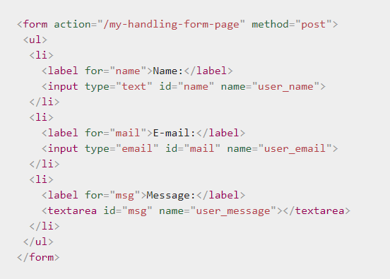 FORMS: Html Input Types